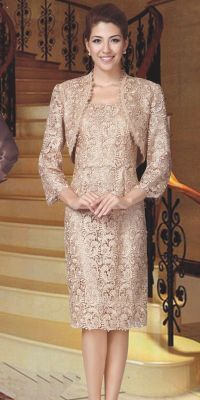 Nina 5529 Lace Short Dress for the Mother of the Bride