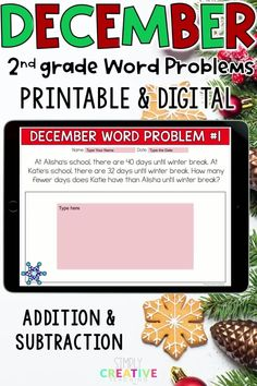 Check you this set of 24 digital and printable addition and subtraction word problems for second grade! Use these in Google Classroom, Seesaw, or print out books for your students! The word problem types included are joining, separating, and comparing numbers within 100 with unknowns in all positions.  Perfect for distance learning or in-person instruction with the flexibility to print-out or assign digitally. Make sure to get your set of 2nd grade addition and subtraction word problems today!