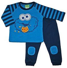 Sesame Street Cookie Monster Baby Boys 2 pc Pant & Shirt Set