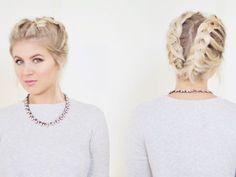 HOW TO BRAID SHORT HAIR TUTORIAL | Milabu