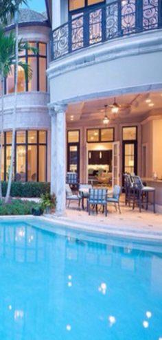 luxury homes pools