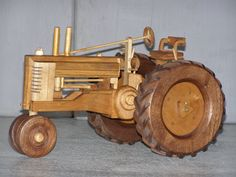 John Deer Tractor made out of wood