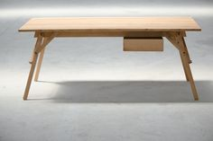 Atelier Desk/Table is a minimalist design created by Bucharest-based designer Dragos Motica. Inspired by the distinctive lines and elements of a painting easel and crafted from solid oak, Atelier Desk stands out through ergonomy and simplicity. It offers a contemporary alternative to an usual desk, creating a working space with simple, clean lines, but also a playful vibe.