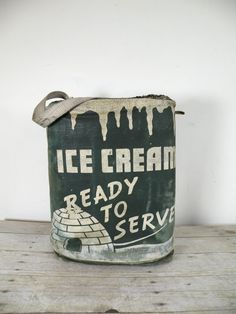 vintage ice cream cooler by experimentalvintage on Etsy, $48.00