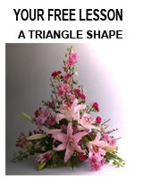 Free Flower arranging lessons on floral design elements and principles plus on DVD, fresh flower arrangements and floral designs,floral design magazine,for florists and as a hobby with Floral Art Mall.