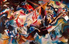 "Wassily Kandinsky ""Composition VI"" (1913) The State Hermitage Museum, St.Petersburg"