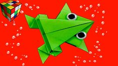 How to make a jumping frog out of paper. Frog origami do it yourself. A4 Paper, Paper Toys, Paper Crafts, Diy Crafts, Jump From Paper, Jumping Frog, Handicraft, Kids Toys, Symbols