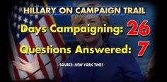New York Times calls out HIllary Clinton for not answering questions. What questions would you ask Hillary Clinton?