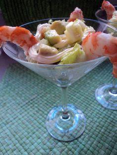 Olor a hierbabuena: Ensalada de langostinos . - Guacamole, Salads, Ethnic Recipes, Dressings, Appetizers, Winter Salad, Spanish Cuisine, Salad, Chopped Salads