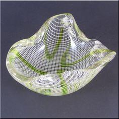 Harrachov Czech Lattice Biomorphic Glass by 20thCenturyGlass