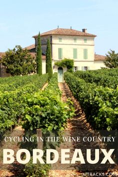 Explore the Bordeaux vineyards by bike! Click through to learn how to do it.