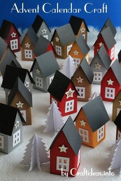Count down to Christmas in a unique way with this Scandinavian-Inspired Paper Village Advent Calendar! This easy Christmas craft is perfect for all ages. Homemade Advent Calendars, Advent Calendars For Kids, Diy Advent Calendar, Kids Calendar, Calendar Ideas, Easy Christmas Crafts, Noel Christmas, Simple Christmas, Handmade Christmas