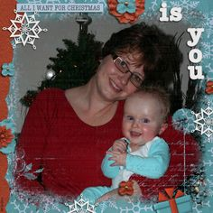 Kit: Jen C Designs - All I want for Christmas Template: M&M Designs - Crazy Monkey V7 TP1