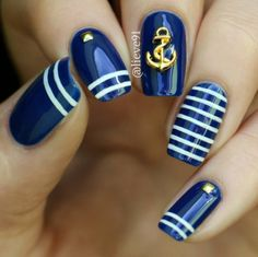 Check out these do-it-yourself trendy nail designs for short nails we know you will love! Have short nails but are fresh out of ideas for fun nail art? Short Nail Designs, Cute Nail Designs, Spring Nail Colors, Spring Nails, Summer Nails, Dark Nails, Matte Nails, Cobalt Blue Nails, Cruise Nails