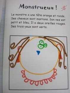 Portraits de monstres... tous à vos stylos ! French Teaching Resources, Teaching French, Teaching Kids, French Practice, French Worksheets, Core French, French Classroom, French Teacher, French Immersion