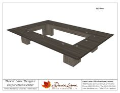 David Lane Office Furniture Custom Boardroom Table Open Center
