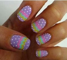 And Blue Dotted Easter Nail Designs Best Nail Art Nail Art Gallery Pictures Easter Nail Designs, Easter Nail Art, Nail Polish Designs, Nail Art Designs, Nails Design, Polish Easter, Fancy Nails, Pretty Nails, Hair And Nails