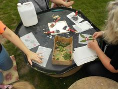 Capturing flowers and leaves at Chadwell Pre-school