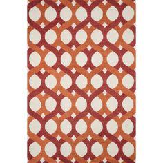 Alexander Home Hand-tufted Tatum Red and Orange Wool Rug (5' x 7'6) (Red/ Orange (5'0 x 7'6))