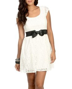 Lace dress with bow belt!