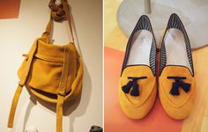 Lemon Loafers and Satchel from Gap