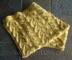 Fancy Cables and Lace Baby Blanket PDF Knitting Pattern