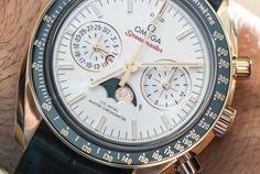 """Omega Speedmaster Master Chronometer Chronograph Moonphase Watches Hands-On"" via @watchville"