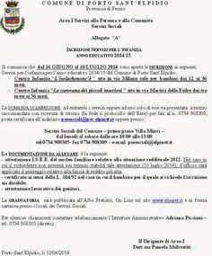 Atti Amministrativi: INIZIO ISCRIZIONI SERVIZI PER L'INFANZIA DAL 16 GI...