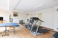 Keep fit in our on-site gym - equipped with state of the art gym equipment, right downstairs Keep Fit, Indoor Activities, Good Company, Auckland, Drafting Desk, Fun Workouts, Gym Equipment, Swimming Pools, New Homes