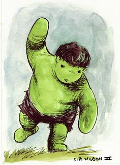 The Avengers clan gets a Winnie the Pooh redesign in Charles Paul Wilson III's excellent set of commission / cover artwork. Winnie The Pooh Avengers by C. Hulk Logo, Avengers Team, Hulk Avengers, Cute Winnie The Pooh, Pooh Bear, Geek Art, Comic Character, Comic Art, Hulk Comic