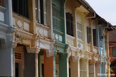 - Kampot City center - old colonial houses © Michel Gotin Kampot, Ecology, Cambodia, Laos, Colonial, Vietnam, Houses, Mansions, House Styles