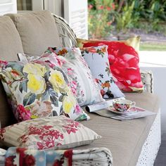 inspiration for the floral cushion covers I am going to make from a piece of retro floral fabric