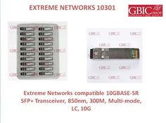 Compatible Extreme 10301 10GBASE-SR SFP+ Transceivers are an equivalent solution for overpriced original Extreme 10301 10GBASE-SR   SFP+ Transceivers of network equipment manufacturers, which primarily serve as a margin product for the manufacturers and fill the pockets of the companies at your expense.