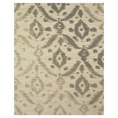 Hand-loomed jute rug with gray ikat motif.   Product: RugConstruction Material: JuteColor: Gray