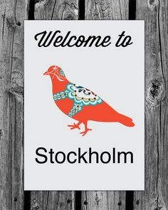 Welcome to Stockholm - uses a pigeon as an emblem - who knew? pigeons and doves on book covers