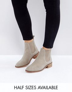 Buy it now. ASOS ABSOLUTE Suede Chelsea Ankle Boots - Beige. Boots by ASOS Collection, Suede upper, Elasticated inserts, Back tab, Almond toe, Low heel, Treat with a leather protector, 100% Real Leather Upper, Heel height: 3.5cm/1. Score a wardrobe win no matter the dress code with our ASOS Collection own-label collection. From polished prom to the after party, our London-based design team scour the globe to nail your new-season fashion goals with need-right-now dresses, outerwear, shoes and…