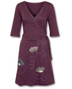 SoulFlower-SALE! Lotus Organic Wrap Dress-$44.00