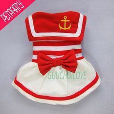 Dog Dress Sailor Dog Costumes Nautical Dog Coat | eBay