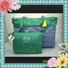 "Coach Sig 20"" Nylon Packable Weekender Tote Bag. Starting at $1 on Tophatter.com! Weekender Tote, Tote Bag, Coach Handbags, Diaper Bag, Diaper Bags, Totes, Mothers Bag, Coach Purses, Tote Bags"