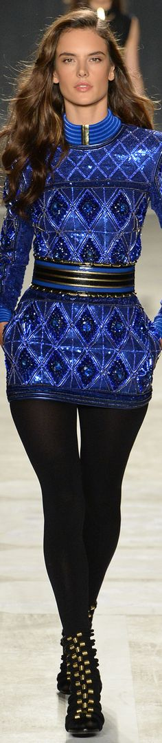 Balmain x H&M Collaboration Collection Runway 2015