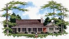 Country Style House Plans - 1550 Square Foot Home, 1 Story, 3 Bedroom and 2 3 Bath, 2 Garage Stalls by Monster House Plans - Plan 22-121