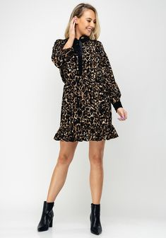 Brand: Style Code: Colour: CHOC Sleeves: Long Sleeves Features: Leopard print, striped and polka dot felt print, velvet trim on t Polka Dots, Velvet, Brown, Mini, Long Sleeve, Sleeves, Color, Dresses, Style