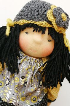 Waldorf inspired cloth asian doll 21 inches by TorvsTreasures, $235.00