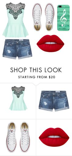 """""""Untitled #11"""" by susanfabianaaguillonortega ❤ liked on Polyvore featuring City Chic, AG Adriano Goldschmied, Converse, Lime Crime and Casetify"""