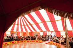 this vintage circus tent is blowing my mind! Circus Birthday, Circus Theme, Circus Party, Birthday Parties, Carnival Wedding, Tent Wedding, 1920s Wedding, Wedding Themes, Wedding Events