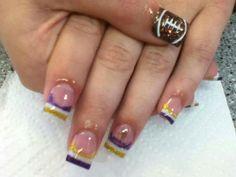 My #Vikings nails done by #NailsByAmber