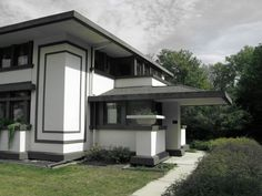 Frank Lloyd Wright. Prairie Style. Stockman House.1908. Mason City, Iowa