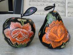 Поделка изделие Декупаж Яблоки бывают разные   и груши - 2 Клей Краска Салфетки фото 1