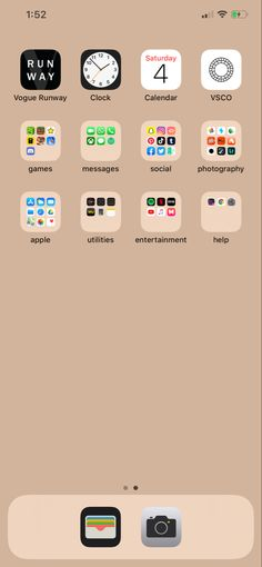 Iphone Home Screen Layout, Iphone App Layout, Iphone Hacks, Iphone 11, Organize Phone Apps, Apps For Girls, Phone Organization, Aesthetic Videos, New Phones