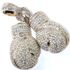 18k Yellow Gold Plated Hip Hop Crystals Iced Micro Pave Mens Fighting Gloves Pendant DazzlingRock Collection. $17.99. This is a unique hip hop style pendant. Get most bang for your buck. It is a trendy accessory and makes a perfect gift for any occasion.. This pendant is iced out